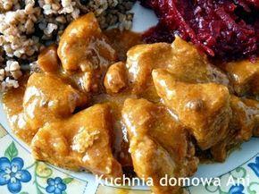 Kuchnia domowa Ani: Gulasz z szynki wieprzowej