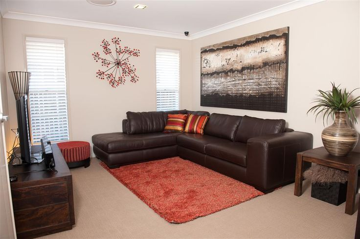 Stunning lounge area, warm & inviting. The Coolum 255 on display, Toowoomba #GJQLD. Contact us on 132 789 or visit at gjgardner.com.au