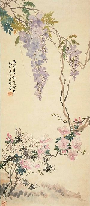 Zhao Shuru  Summer Blossoms 1926 brushpainting fineline#Ink and Wash Painting Chinese Art