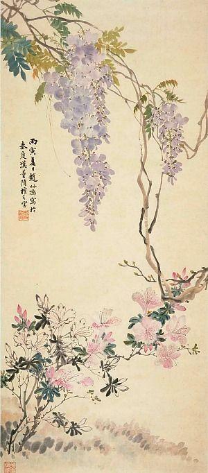 Zhao Shuru  Summer Blossoms 1926 brushpainting fineline#Ink and Wash Painting Chinese Art