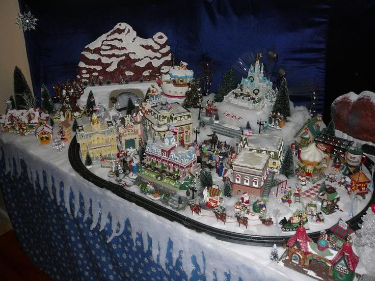 78 Best Images About Disney Christmas Village On