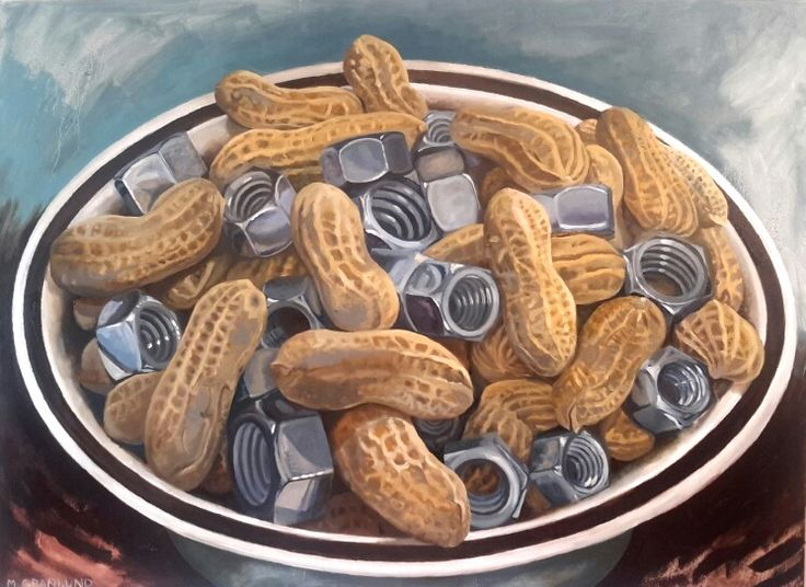 "Mixed Nuts, Oil Paint on canvas, 30"" × 40"", by Mark Granlund:"