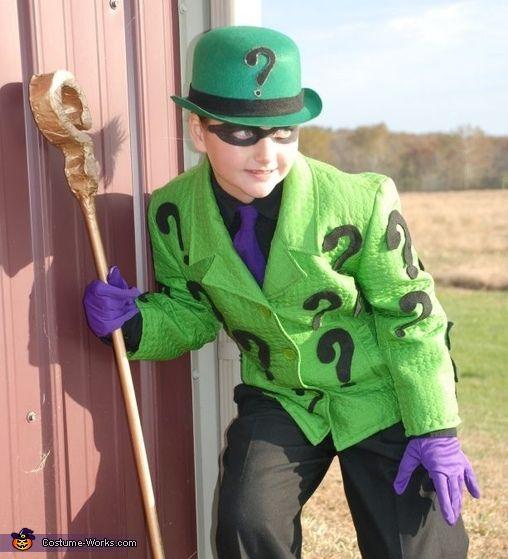 the riddler | The Riddler, the Joker and the Penguin - homemade Halloween costumes ...