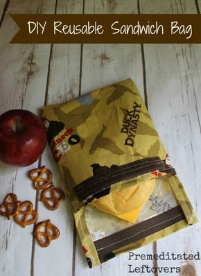 This DIY reusable sandwich bag is a great way to cut down on waste and add a little personality to lunchboxes.