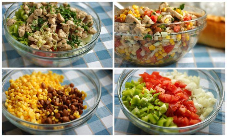 Osviežte sa v týchto letných dňoch vynikajúcim a ľahkým kuracím šalátom s medovo-horčicovou zálievkou - To je nápad!   #recept #recipe #salad #šalát #healthy #zdrave