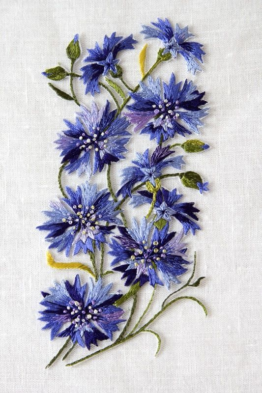 17 Best Images About Stitching Flowers On Pinterest | Over The Hill Hand Embroidery And Appliques