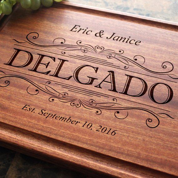 Personalized Engraved Cutting Board- Wedding Gift, Anniversary Gift, Housewarming Gift, Birthday Gif