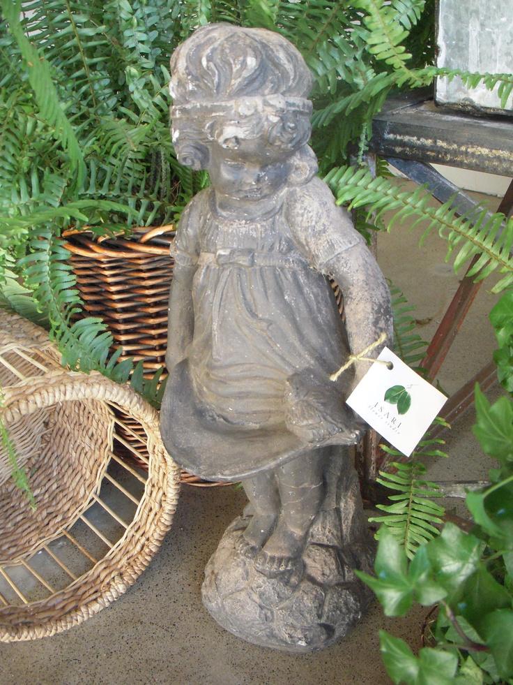 Charming Little Girl Garden Statue