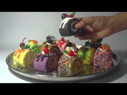 Llaveros con forma de pasteles - YouTube