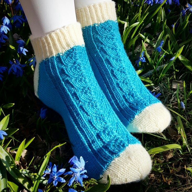Knitted socks, April-2017