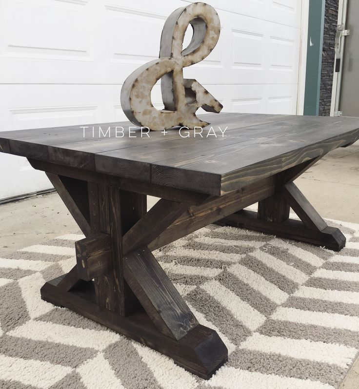 The 25 best white rustic coffee table ideas on pinterest for Industrial farmhouse coffee table