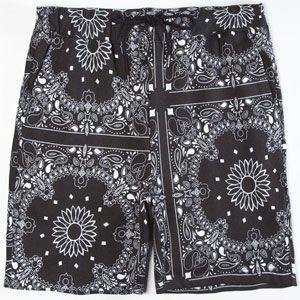 ELWOOD Bandana Mens Fleece Shorts