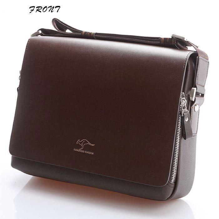 Multi-Purpose Men Messenger Bag Fashion Kangaroo Crossbody HandBag Faux Leather