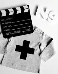 shirt grijs kruis