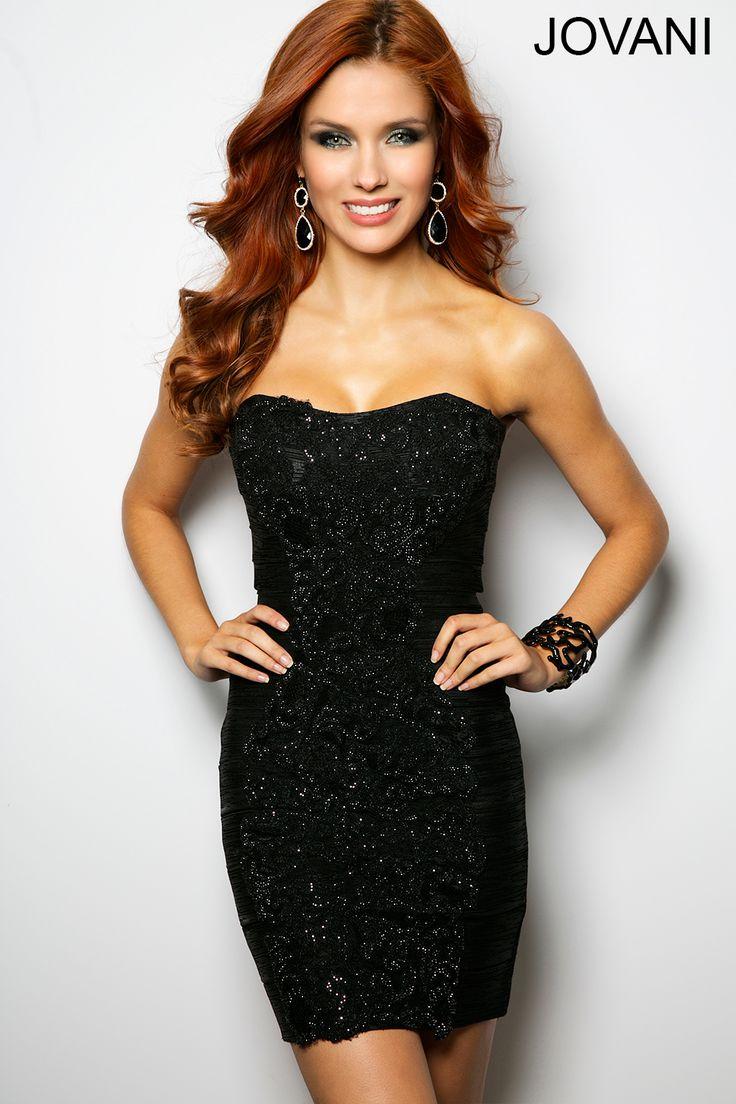 Strapless Black Party Dress