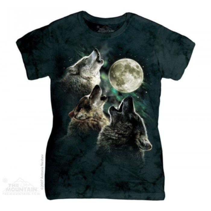 Tricouri The Mountain – Tricou Three Wolf Moon Dama