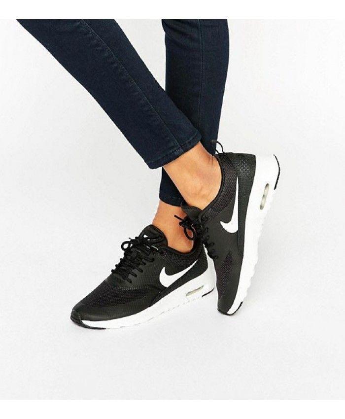 Zapatillas Deportivas Mujer Nike Air Max Thea Blanco con Negro