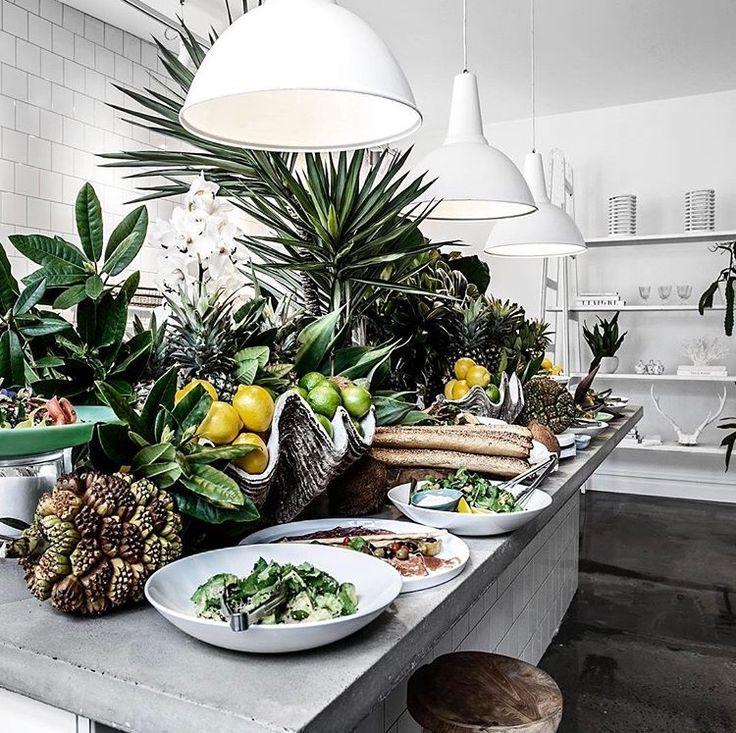 Kitchen design  Large island bench  Home