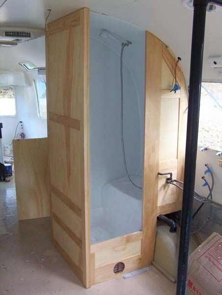 Good shower wall covering on reno? - Page 3 - Airstream Forums