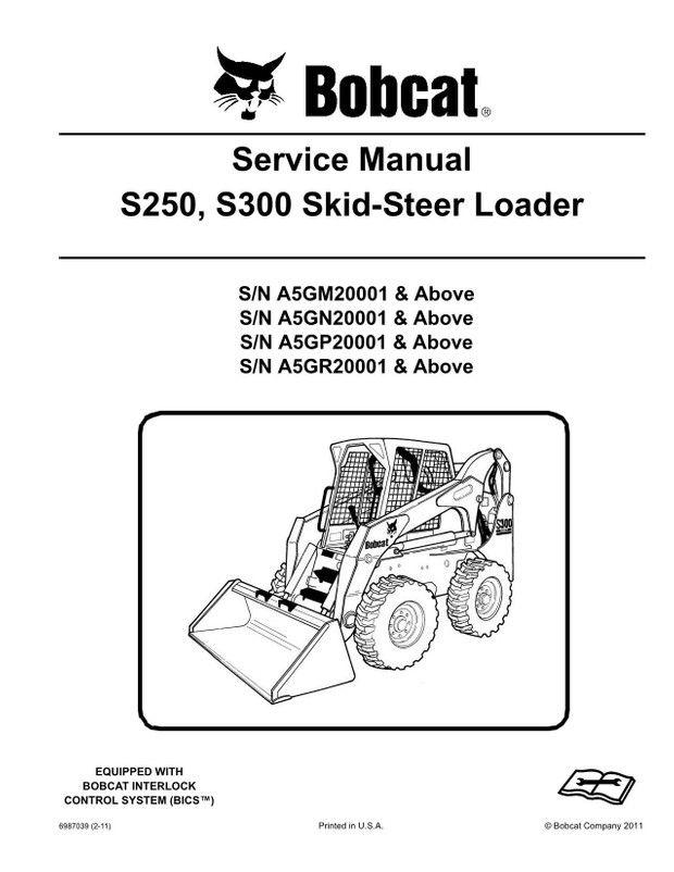16cb2cdbbc595a43c10b779f8829560d bobcat s250, s300 skid steer loader service manual 6987039 (2 11