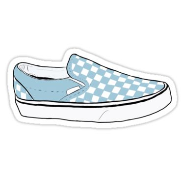 Quot Blue Checkerboard Vans Quot Stickers By Stevendoherty13