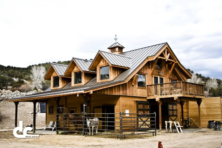 Barns with Living Quarters   Barns-With-Living-Quarters-Taos NM-DC Builders