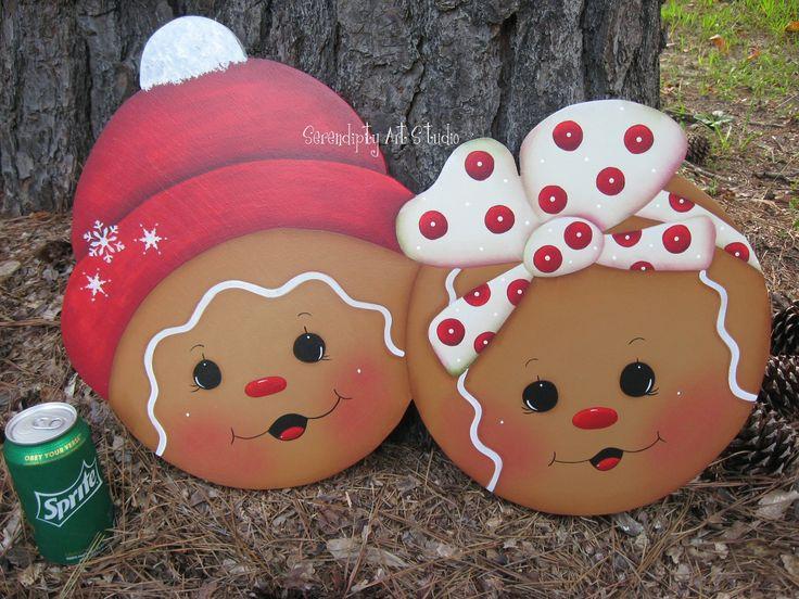 Hp gingerbread madera country pinterest navidad - Ornamentos de navidad ...
