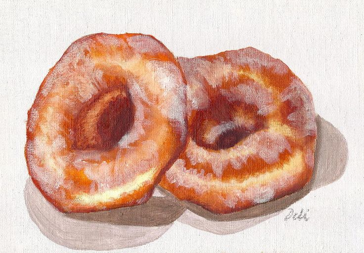 Glazed Donuts Painting  - Glazed Donuts Fine Art Print