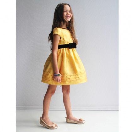 Yellow Gold Silk Blend Dress http://www.alexandalexa.com/innocence-yellow-gold-silk-blend-dress