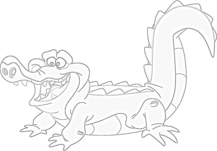 tiktok coloring pages | Tick Tock Croc Coloring Pages Coloring Pages
