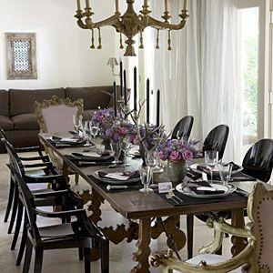 Mix sleek and ornate 79 stylish dining room ideas for Sleek dining room furniture