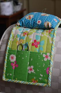 Armrest sewing organizer - I need one of these!