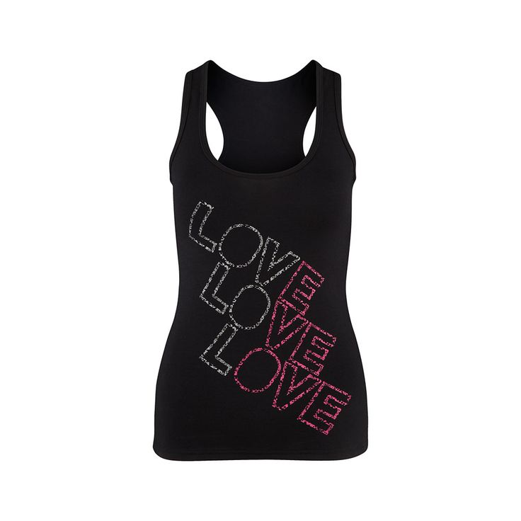 Love X3 Racerback - Sew Black
