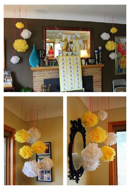 Pom Poms for Baby Shower
