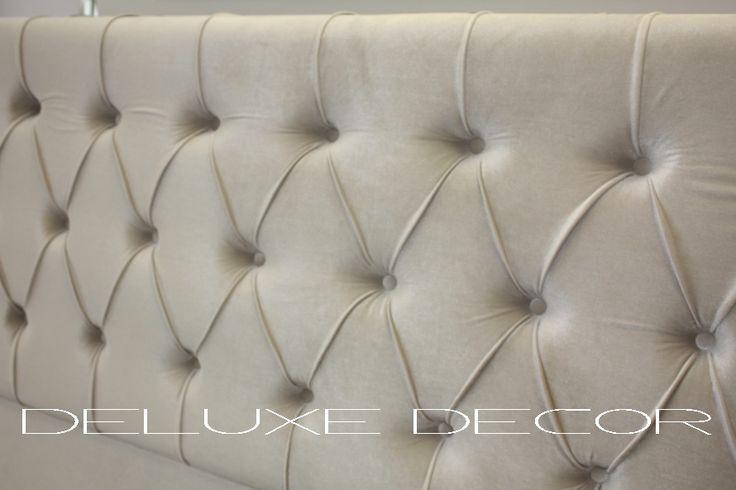 Harper Elegant Velvet Tufted Upholstered Bedhead  http://deluxedecor.com.au/products-page/harper-collection/