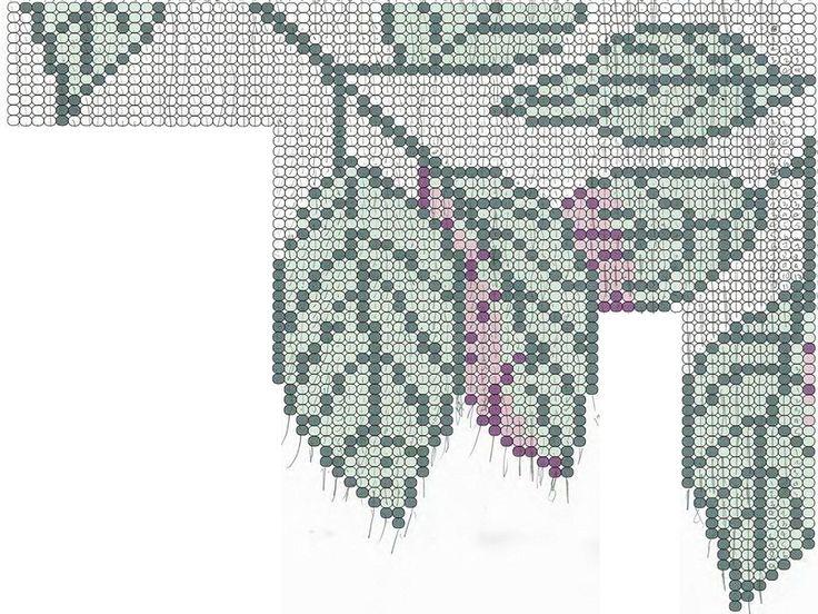схема плетения колье береза