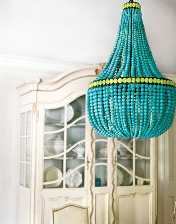 Love turquoise; such a rich color no matter where it shows up.