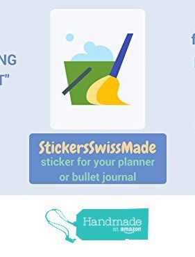 StickersSwissMade @Amazon Handmade Germany || PLANNER STICKER || cleaning bucket || household chores || small colored icon | for your planner or bullet journal von der StickersSwissMade https://www.amazon.de/dp/B071VDVXHN/ref=hnd_sw_r_pi_dp_1T0dzb1MJ71F4 #handmadeatamazon