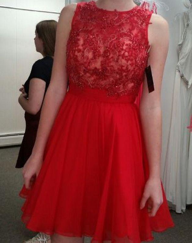 Homecoming Dresses,Red Prom Dresses,Chiffon Homecoming Dresses,Red Homecoming Dress