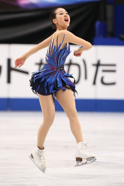 Mao Asada of Japan competes in the Ladies Free Skating during ISU World Figure Skating Championships at Saitama Super Arena on March 29, 201...