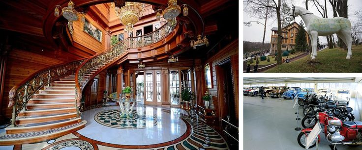 VIKTOR YANUKOVYCH: When the Ukrainian strongman was thrown from power in a 2014 revolution, security guards abandoned his estate outside Kyiv, allowing the public to witness his opulent lifestyle—featuring a palatial home, gardens and a zoo, not to mention brandy and an antique car collection. The complex has since been converted into a museum.