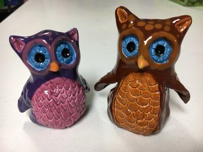 Ceramic Owls- Thumb Clay Lesson