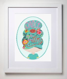 Our beautifully illustrated and aptly named Flora print is a must have for your little dance and singing lover. Printed on carbon neutral, linen card. Available framed or unframed.