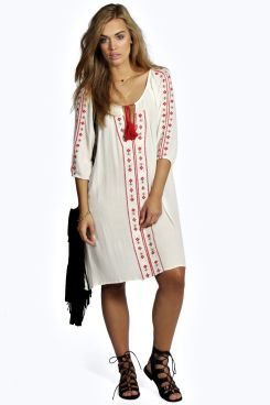 Ava Embroidered Swing Dress