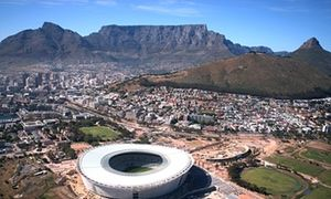 Majestic mount … Cape Town stadium with Table Mountain in the background.