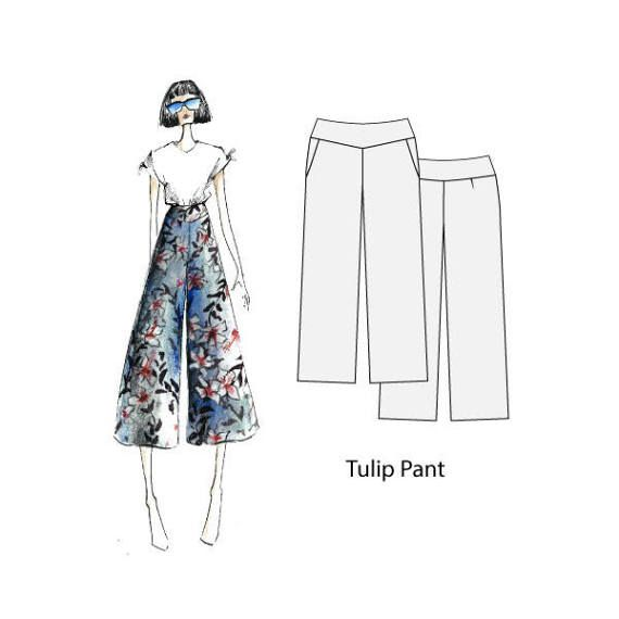 Tulip pant sizes 8-16 sewing pattern for women by Thepatternsroom