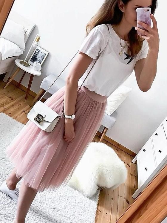 Tulle skirt in different colors
