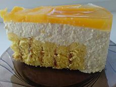 Творожно-персиковый торт : Торты, пирожные