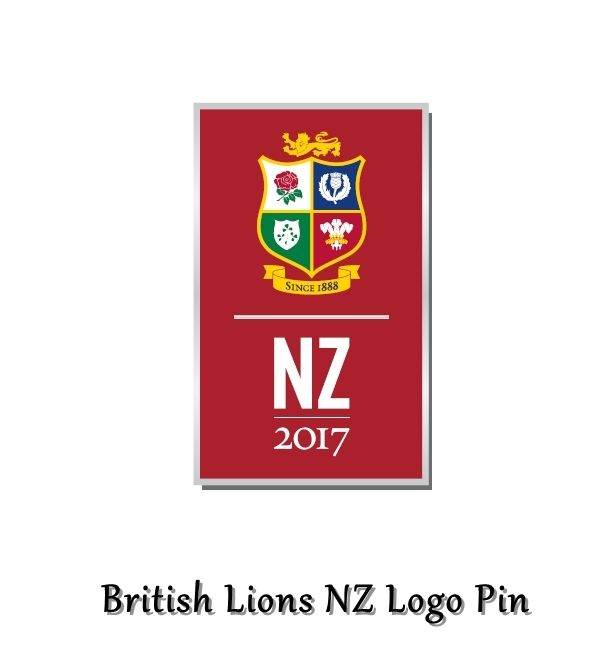 British Lions Rugby NZ Logo Pin - Official 2017 British & Irish Lions Rugby Tour New Zealand Pin Badges #BritishLionsNZLogoPin #2017BritishLionsRugbyTourNewZealand #FineGiftsNottingham