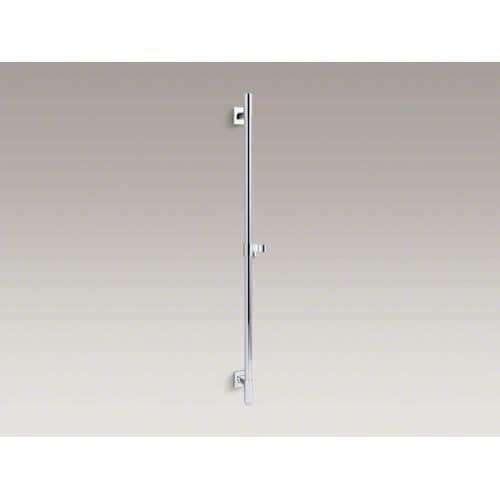 Kohler K-98344 Awaken 36 Deluxe Slide Bar with Integral Water Supply, Adjustable Mountings, and Hand Shower Bracket (